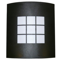 Exterior wall light in black IP44 E27 (Es) Lamp Fitting