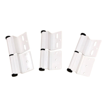 White Ellbee static door hinge (Right hand) Pack of 3