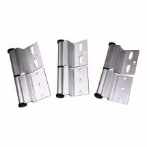 Silver Ellbee static door hinge (Right hand) Pack of 3
