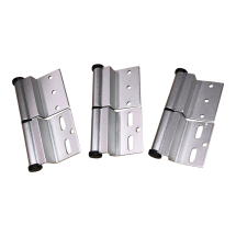 Silver Ellbee static door hinge (Left hand) Pack of 3