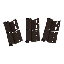 Brown Ellbee static door hinge (Right hand) Pack of 3