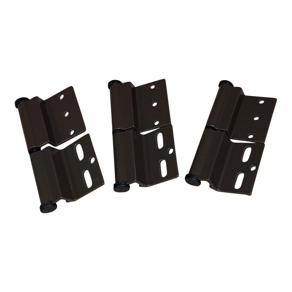 Brown Ellbee static door hinge (Left hand) Pack of 3