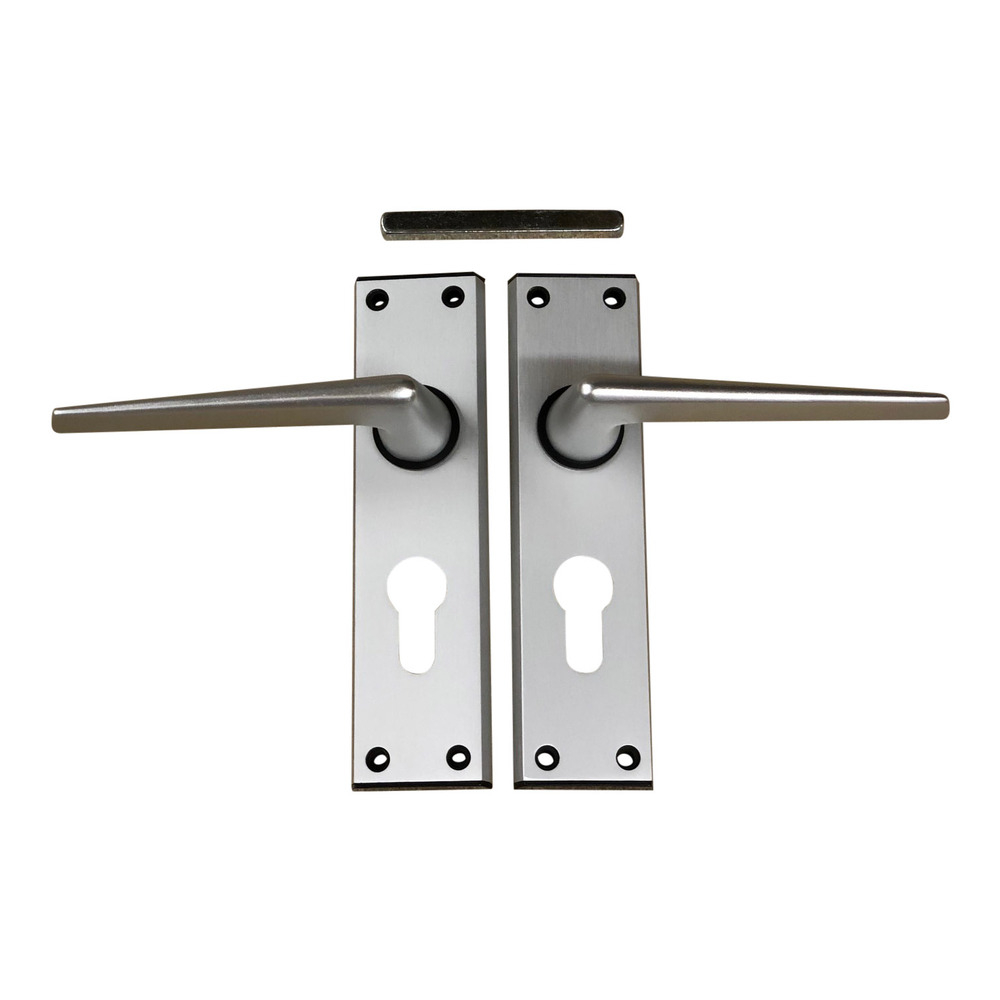 Ellbee Euro Door Handle set ( Silver )