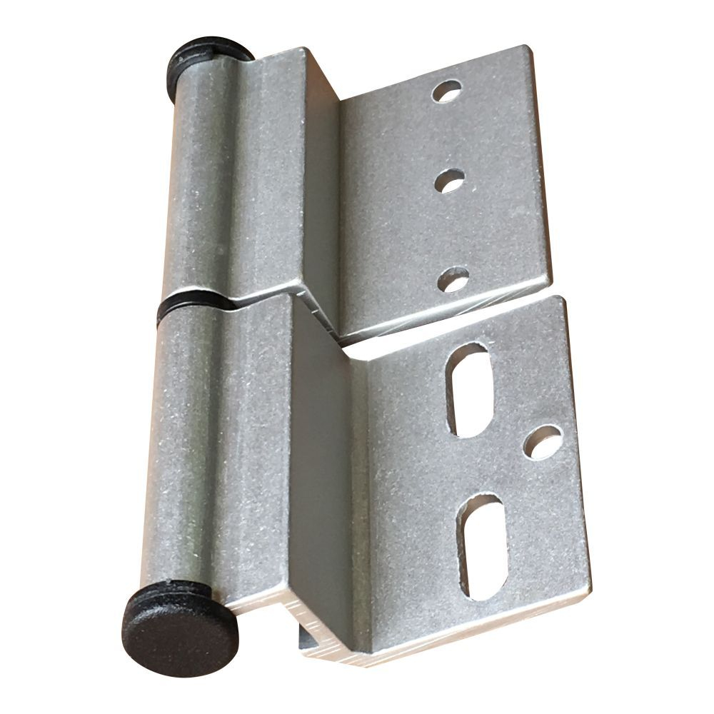 Silver Ellbee static door hinge (Left hand) single