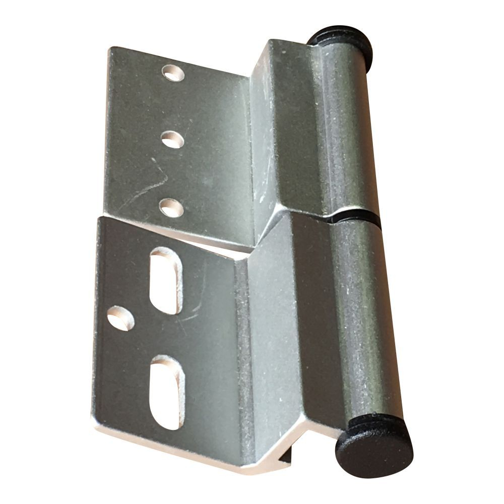 Silver Ellbee static door hinge (Right hand) single