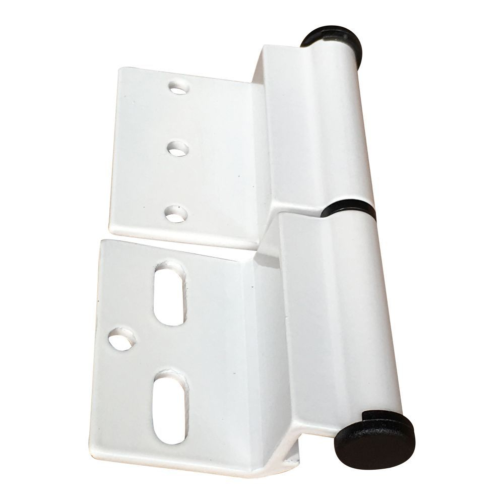 White Ellbee static door hinge (Right hand) Single