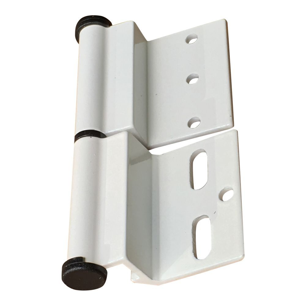White Ellbee static door hinge (Left hand) Single