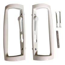 Ellbee Sliding Door Handle in White 06414
