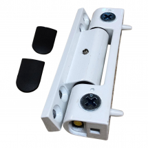 White Neon Butt Hinge for UPVC Doors - Angled