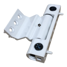 White Neon Rebated Butt Hinge for UPVC Doors