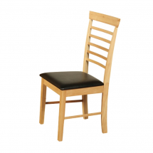 Hanover dining chair with brown seating pad
