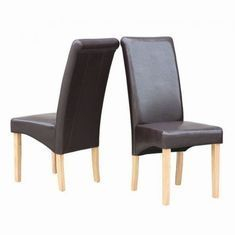 BROWN OSLO DINING CHAIR PAIR