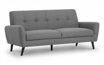Monza 3 Seater Sofa Mid Grey Linen Style Fabric