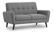 Monza 2 Seater Sofa Mid Grey Linen Style Fabric