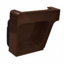 Royal Europa Gutter End Cap - Brown - LH
