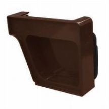 Royal Europa Gutter End Cap - Brown - RH