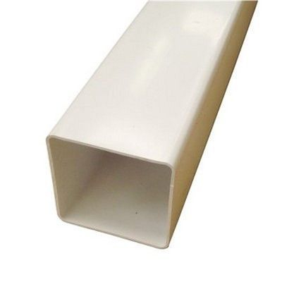 SQUARE LINE DOWNPIPE WHITE 65MM X 65MM X 2.4M
