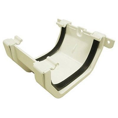 SQUARE LINE GUTTER UNION - White