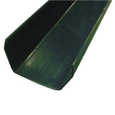SQUARE LINE GUTTER CHANNEL 2M GREEN