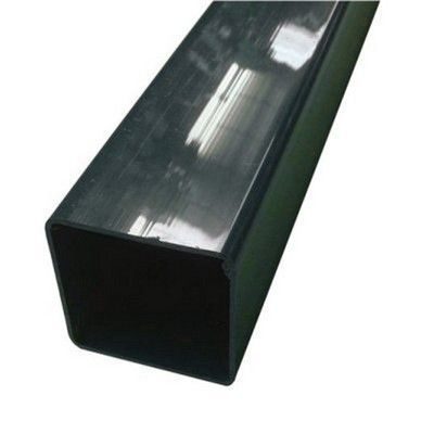 SQUARE LINE DOWNPIPE GREEN 65mm x 65mm x 2.5m