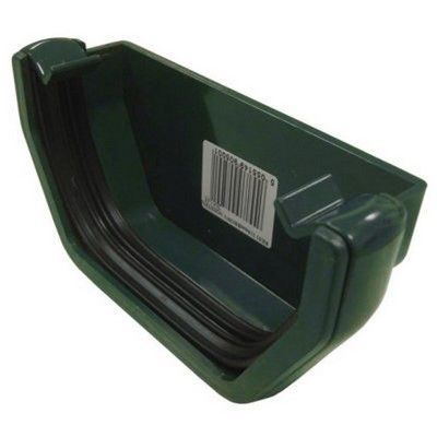 SQUARE LINE GUTTER END CAP - GREEN