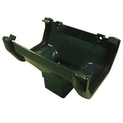 SQUARE LINE GUTTER OUTLET HOPPER - GREEN