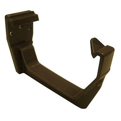 SQUARE LINE GUTTER BRACKET BROWN