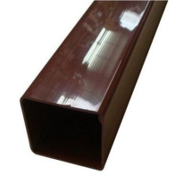 SQUARE LINE DOWNPIPE 65mm x 65mm x 2.5m - Brown