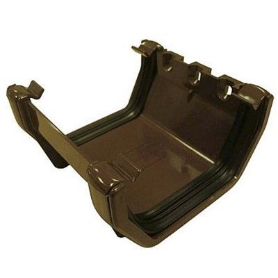 SQUARE LINE GUTTER UNION - BROWN