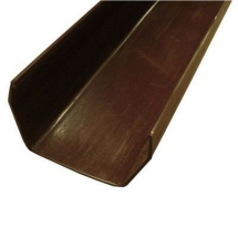 SQUARE LINE GUTTER CHANNEL 2M - BROWN