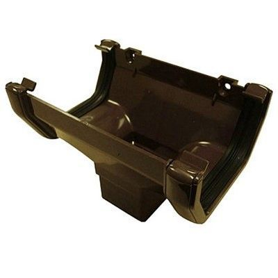 SQUARE LINE GUTTER OUTLET HOPPER - BROWN