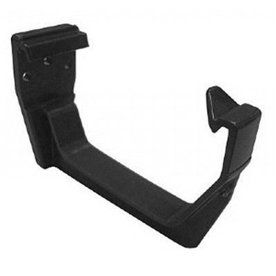 SQUARE LINE GUTTER BRACKET BLACK