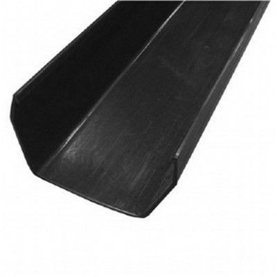 SQUARE LINE GUTTER CHANNEL 2m - BLACK