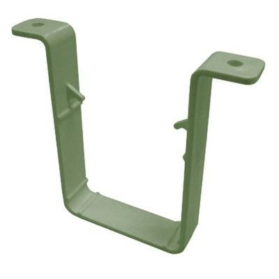 SQUARE LINE DOWNPIPE CLIP QUARRY GREY