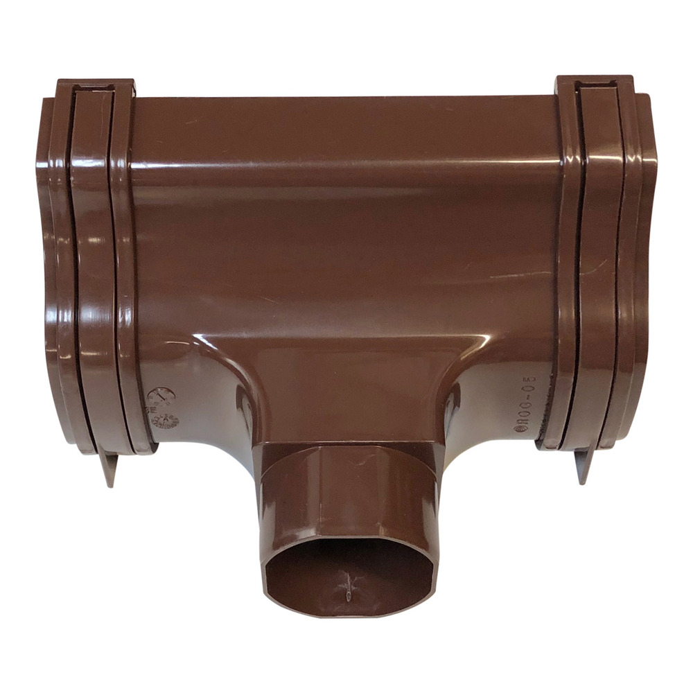 Polypipe Ogee Gutter Outlet in Brown ROG05BR