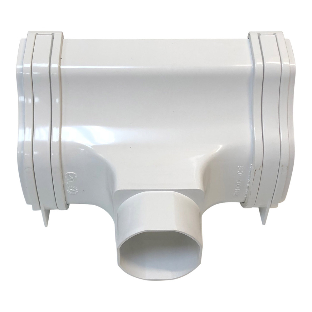 Polypipe Ogee Gutter Outlet In White ROG05W