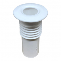 15mm Pipe Seal Hole Tidy with 60mm Tail White