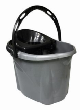 Kingfisher 12L PLASTIC MOP BUCKET GREY