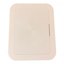 Cream Plastic Inspection Panel 200MM X 150MM