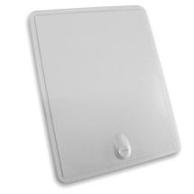 Access door panel With Coin Lock White