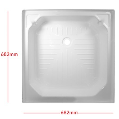 White Plastic Shower Tray 27 x 27