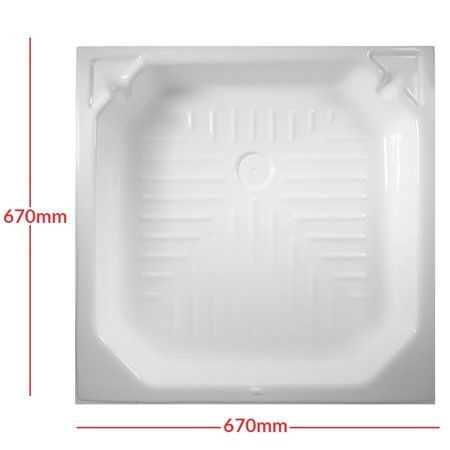 White Plastic Shower Tray Skin 27inch x 27inch E0998A900