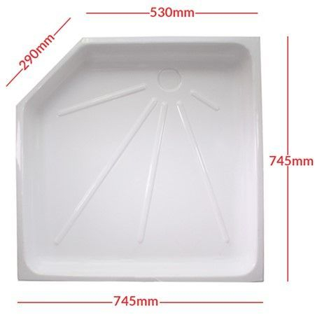 White Shower tray Skin PC1328B