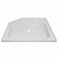 Angled shower tray 27inch x 27inch White