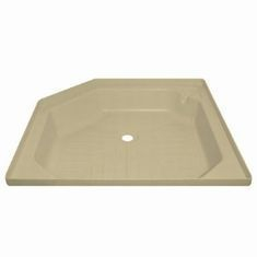 Angled shower tray 27inch x 27inch Soft Cream