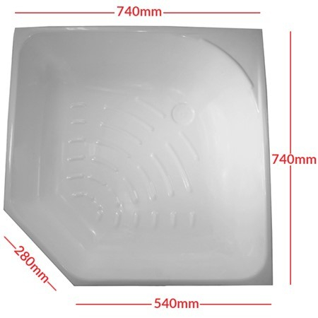 Shower Skin, HFE0929A900 740mm x 540mm x 740mm x 540mm White