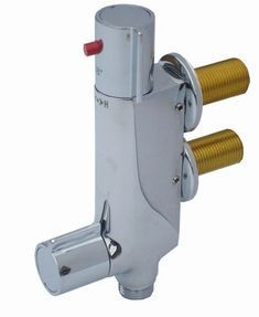 V100 Vertical Thermostatic Shower Valve - Chrome