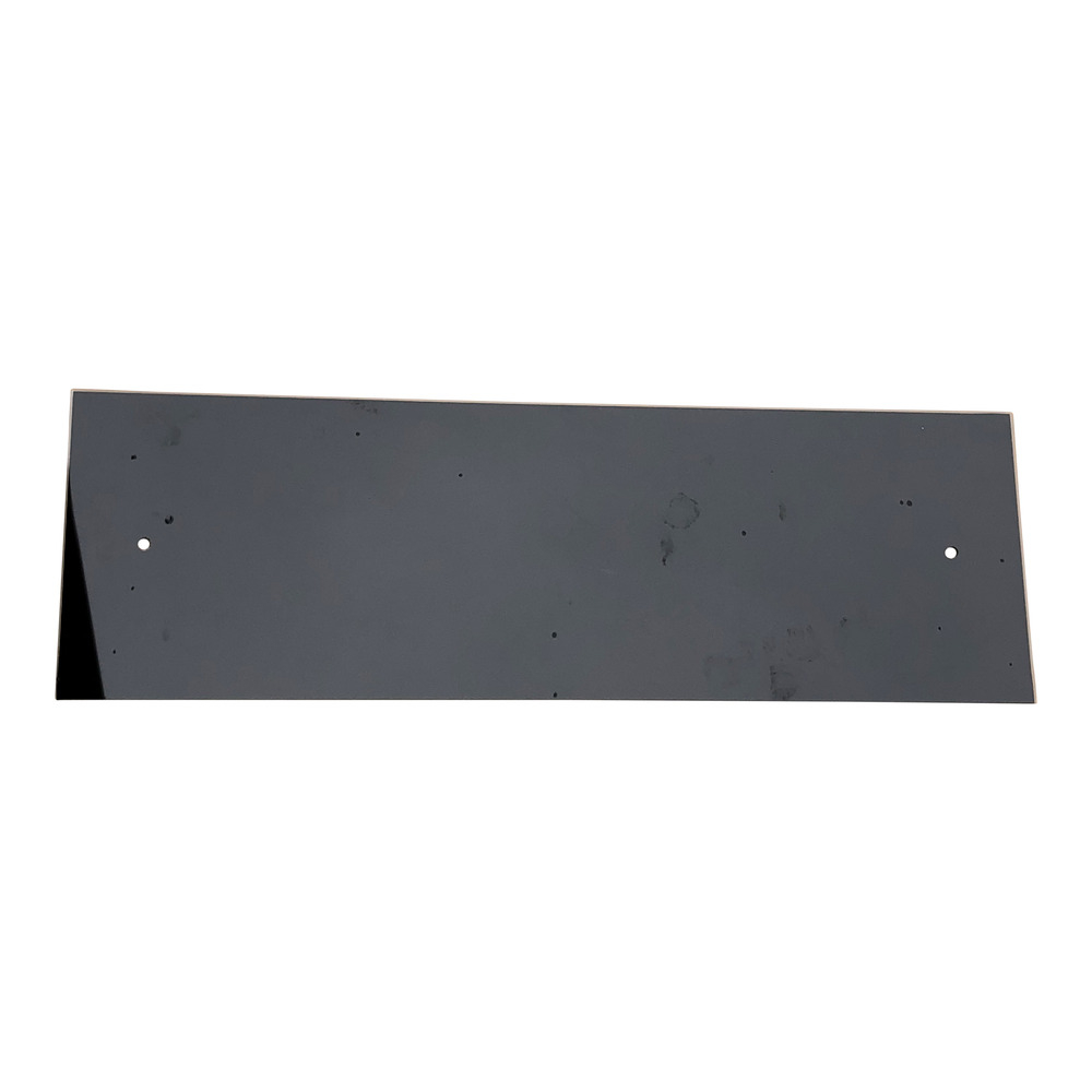 Black Glass Cooker Splashback 625mm x 200mm x 4mm C/W Holes