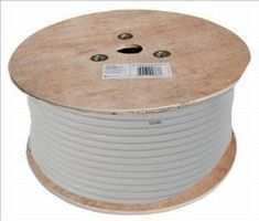 White Coax Tv Lead 250m Roll