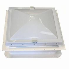 Complete wind up roof light assembly with integrated fly screen
